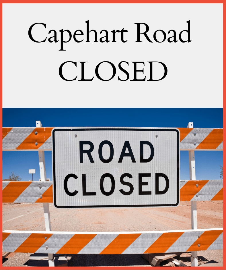 Website -  Capehart Rd closure