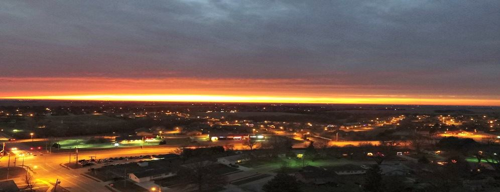Dec 2016 Overhead Drone Photo of Beautiful Gretna, NE sunrise