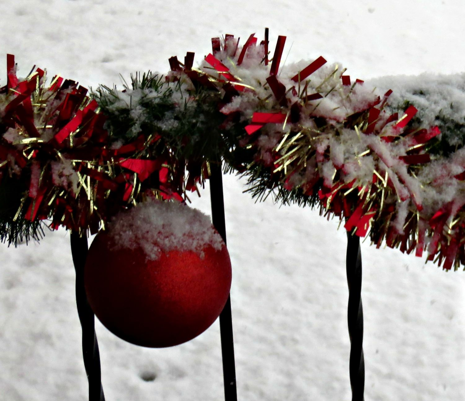 ornament with snow